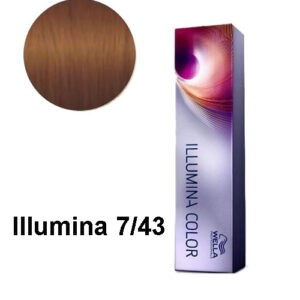 Coloration Illumina 7/43 Blond cuivré doré Wella