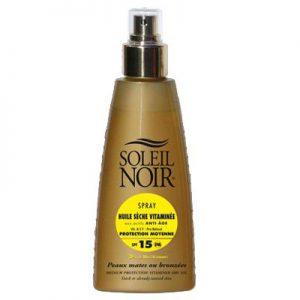 Spray Huile sècheprotection moyenne SPF15 Soleil Noir