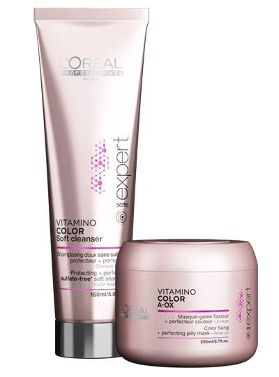 Duo Shampooing et Masque Fresh feel vitamino color AOX L'Oréal