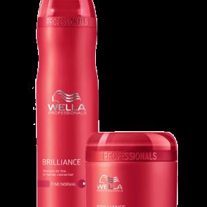 Duo Shampooing et masque brilliance cheveux fins Wella