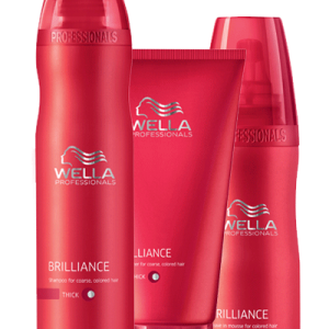 Pack Shampooing, Conditionneur cheveux épais et Mousse Brilliance Wella