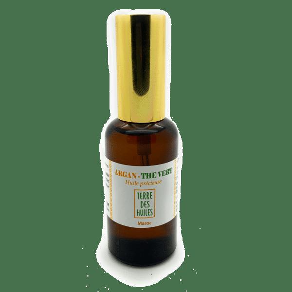 huile d'argan thé vert 100% naturelle